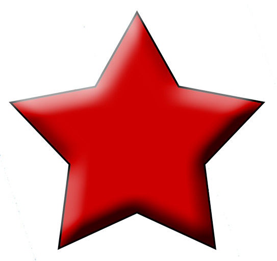 Red Star against white background