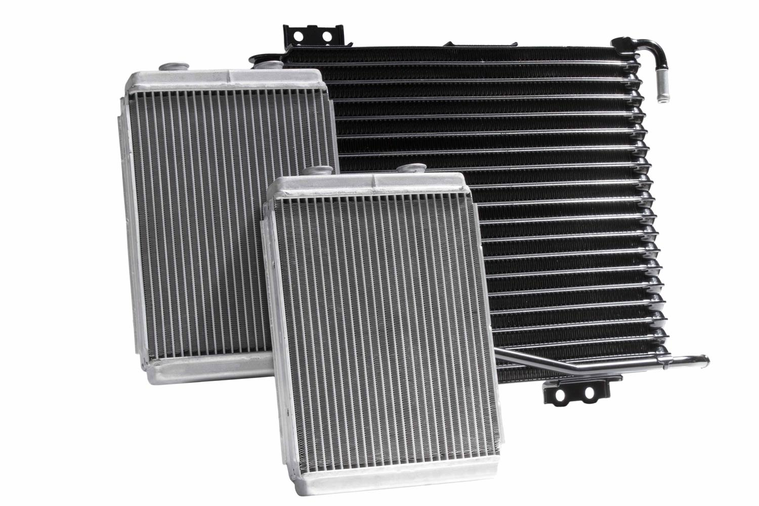 Three Vehicle Radiators sat side by side