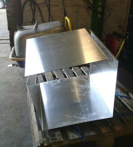 The first layer of a custom built fuel tank